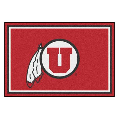NCAA - University of Utah Red 8 ft. x 5 ft. Indoor Area Rug