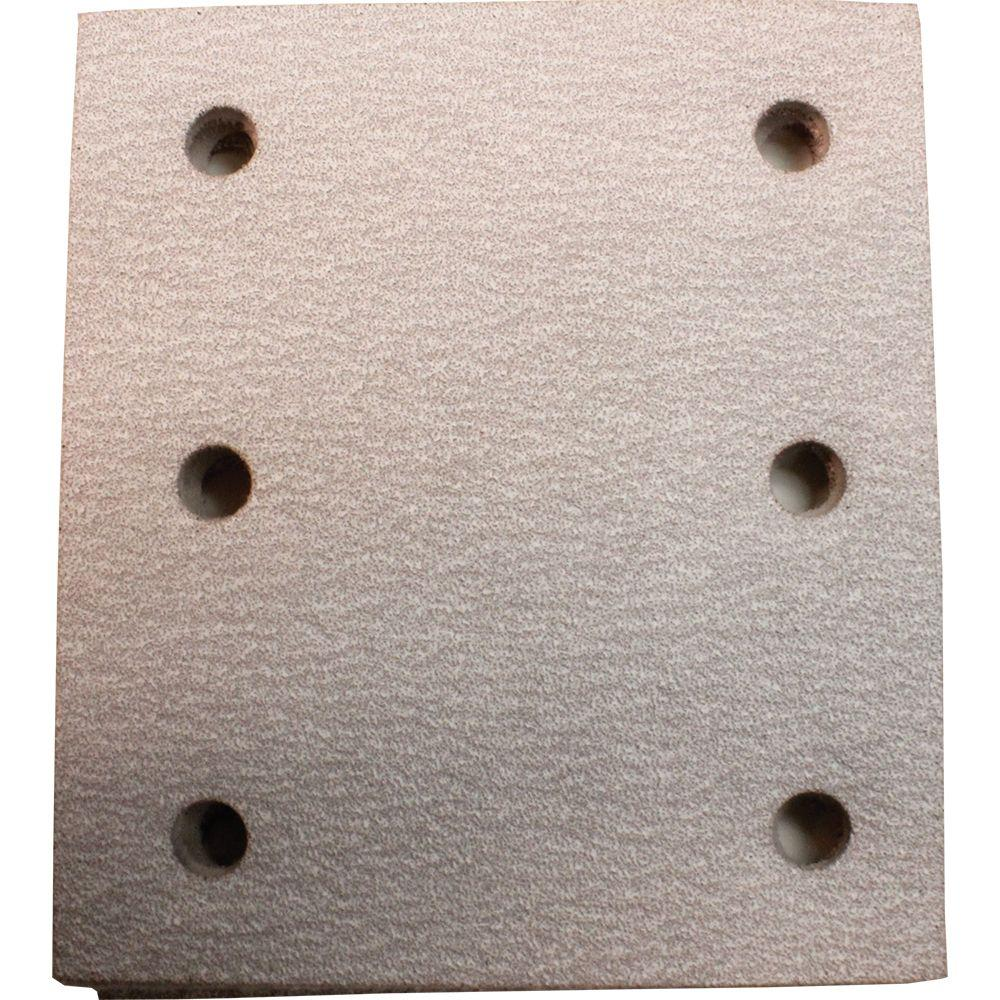 4 in. x 4-1/2 in. 80-Grit Hook and Loop Abrasive Paper