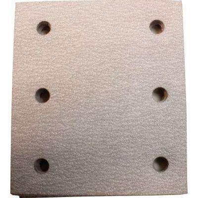 4 in. x 4-1/2 in. 80-Grit Hook and Loop Abrasive Paper (5-Pack) compatible with 1/4 Sheet Finishing Sanders