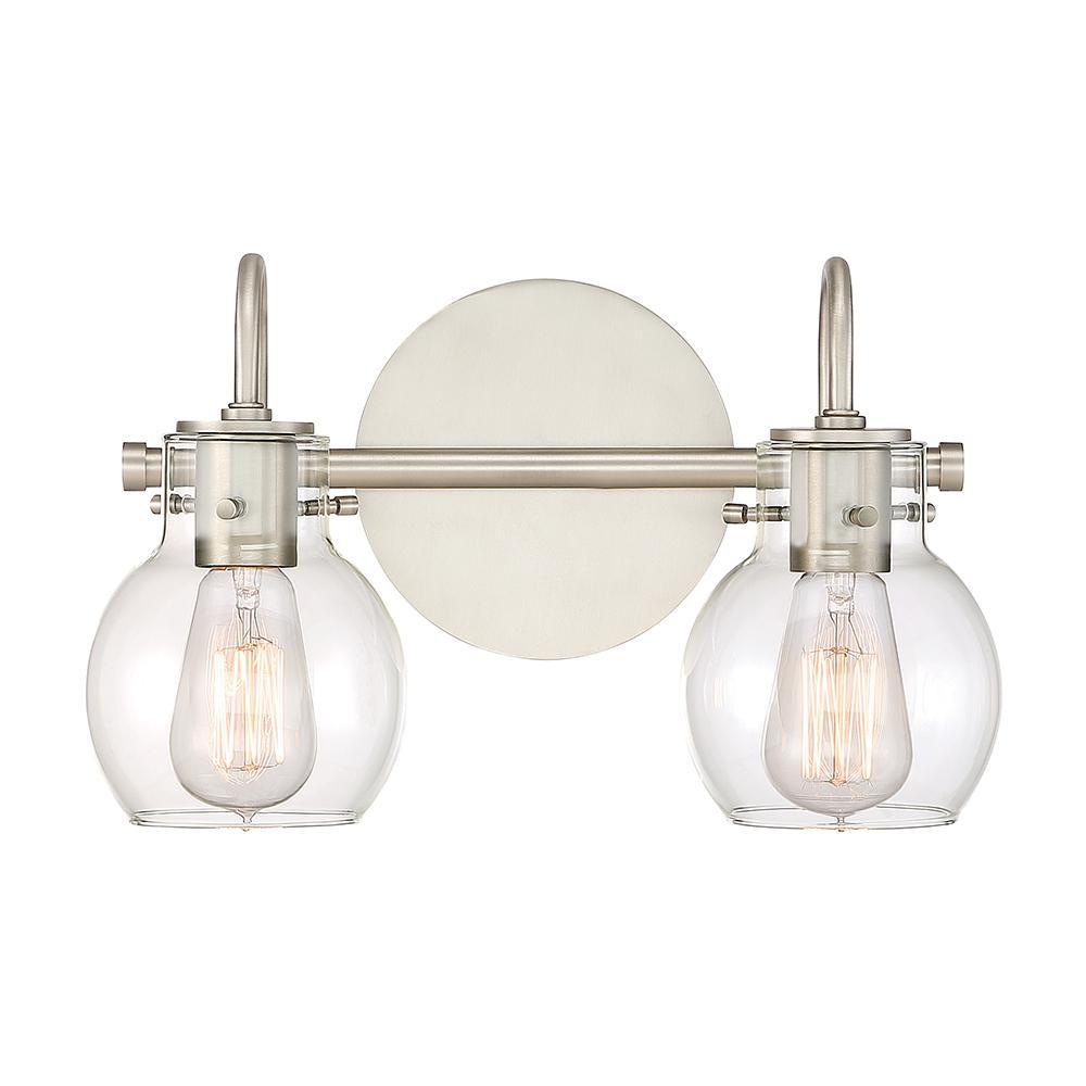 Andrews 2-Light Antique Nickel Vanity Light