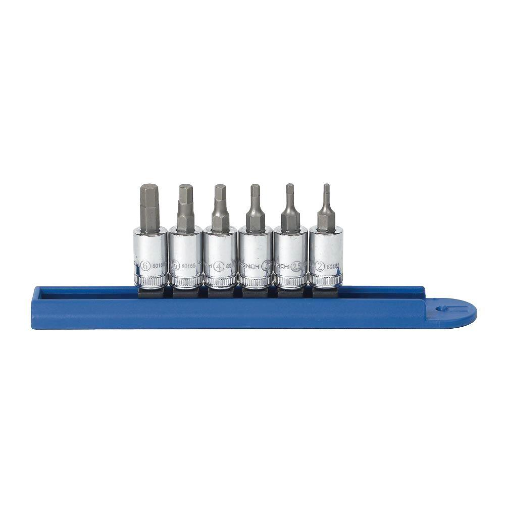 GearWrench 80578 10 Piece 3//8-Inch and 1//2-Inch Drive Metric Hex Bit Socket Set