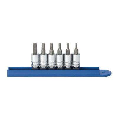 1/4 in. Drive Metric Hex Bit Socket Set (6-Piece)