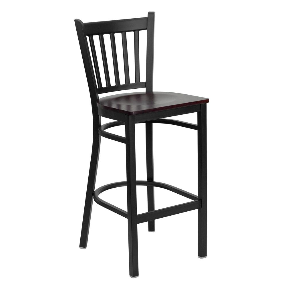 28.75 in. Black Bar Stool