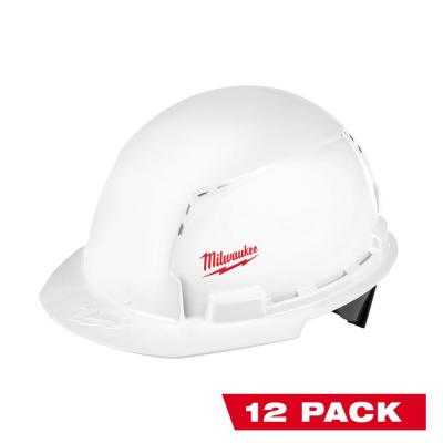 BOLT White Type 1 Class C Front Brim Vented Hard Hat with Small Logo (12-Pack)