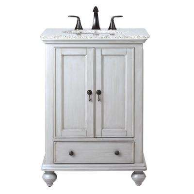 Gray Inch Vanities Bathroom Vanities Bath The Home Depot - 24 inch bathroom vanity gray