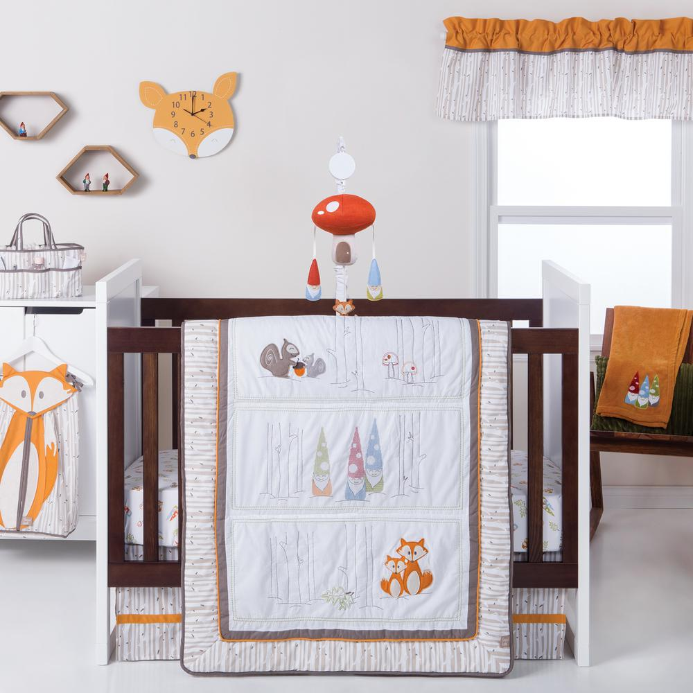 Gnome Boy 4-Piece Crib Bedding Set