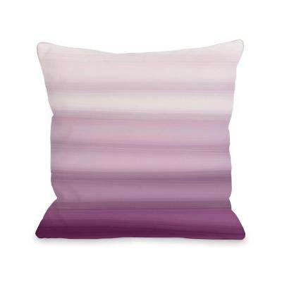 Ombre Watercolors 16 in. x 16 in. Decorative Pillow