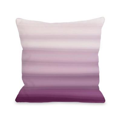 Ombre Watercolors Purple Graphic Polyester 16 in. x 16 in. Throw Pillow