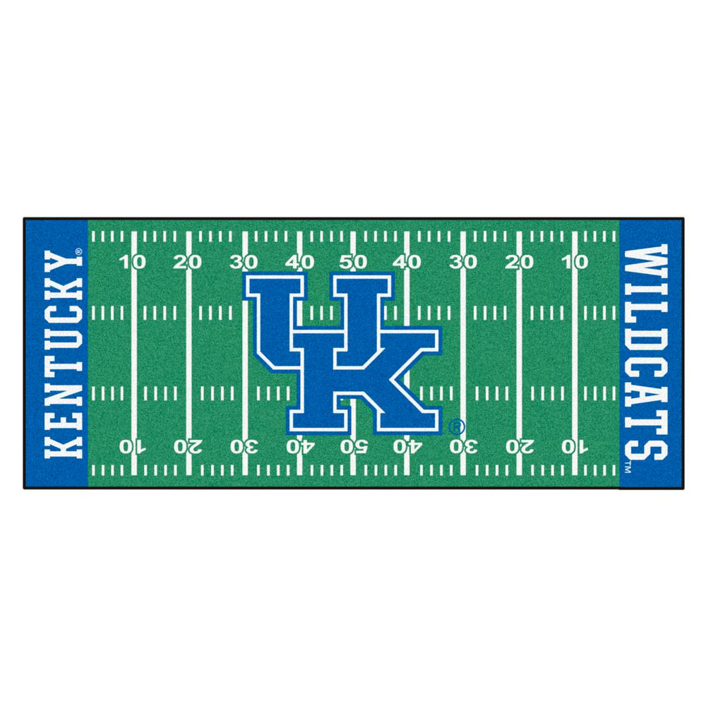 ac356a3e FANMATS NCAA University of Kentucky 2.5 ft. x 6 ft. Football Field Runner  Rug