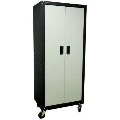 Garage Series 27 in. 2-Door Tall Mobile Cabinet with 4-Shelves in Black and Gray