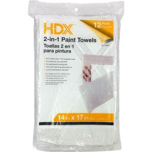 14 in. x 17 in. 2-in-1 Paint Towels (12-Pack)