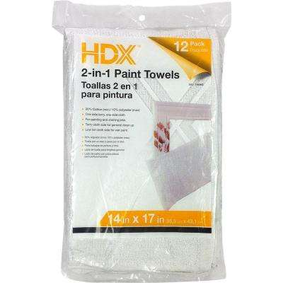 12-Count 14 in. x 17 in. 2-in-1 Paint Towels (4-Pack)