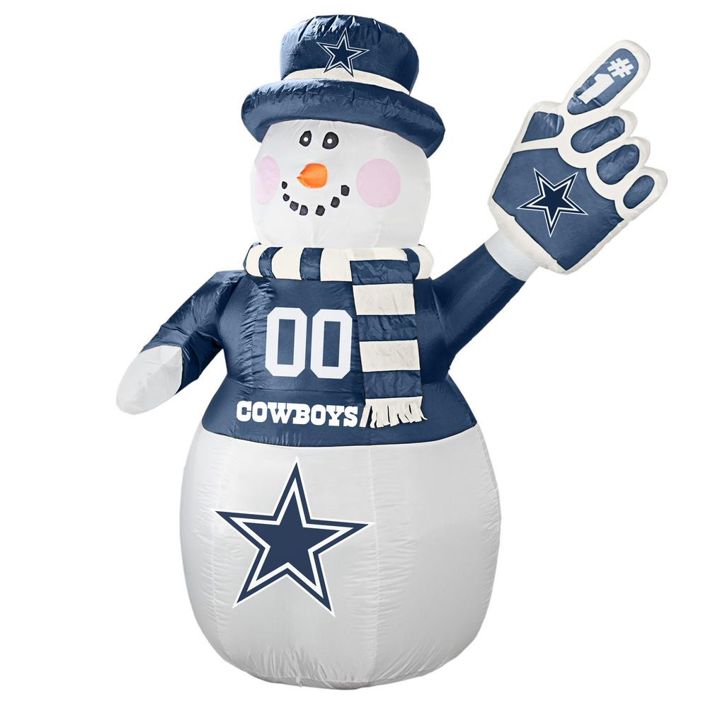 Dallas Cowboys Christmas Hat.Nfl 7 Ft Dallas Cowboys Inflatable Snowman