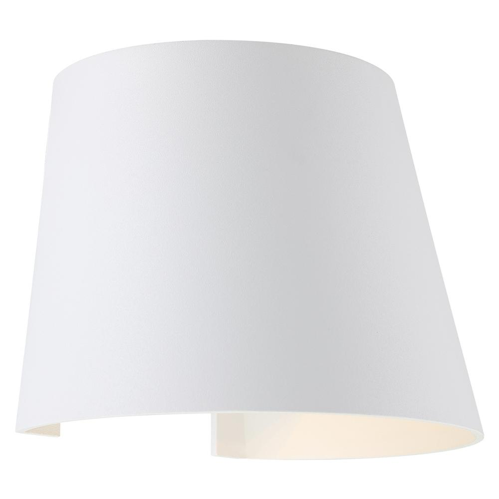 Access Lighting Cone Medium 1-Light White LED Outdoor Wall Mount Sconce