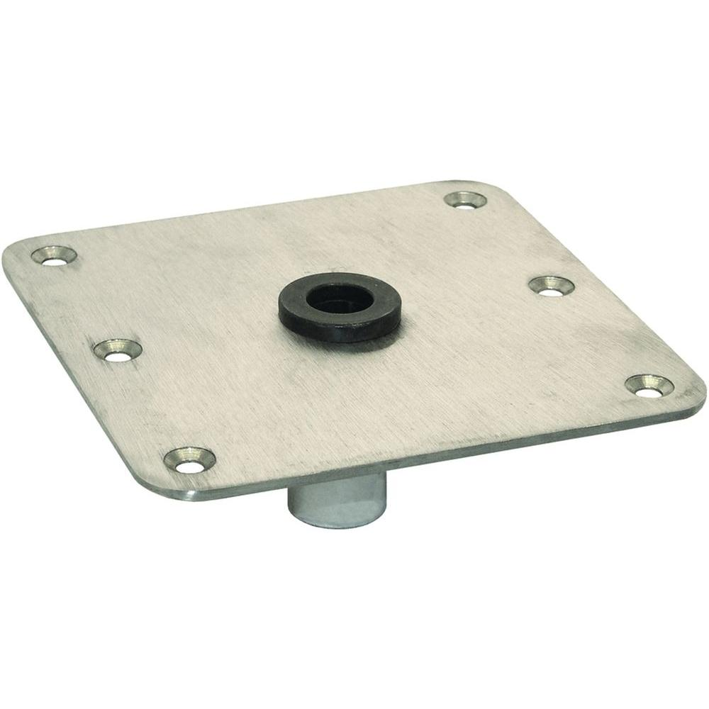 7 in. x 7 in. Stainless Steel Seat Base Plate with