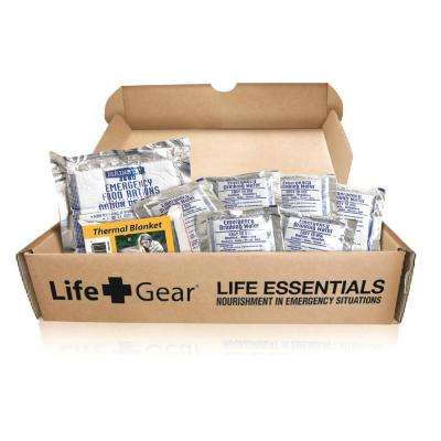 Life Essentials -Emergency Survival Kit - 72 Hours of Food and Water and Thermal Blanket