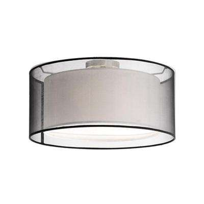 Rochester 2-Light Brushed Nickel Semi-Flushmount Light
