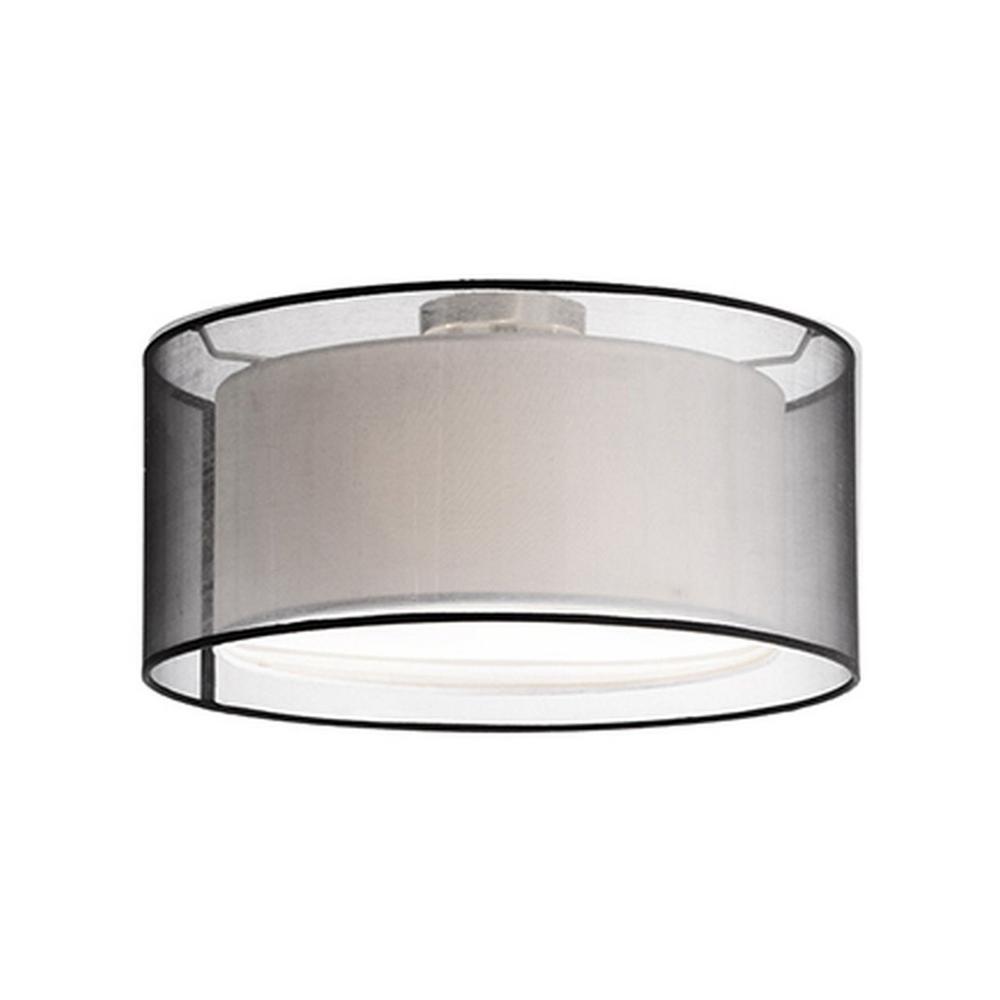 Rochester 2-Light Brushed Nickel Semi-Flushmount Light