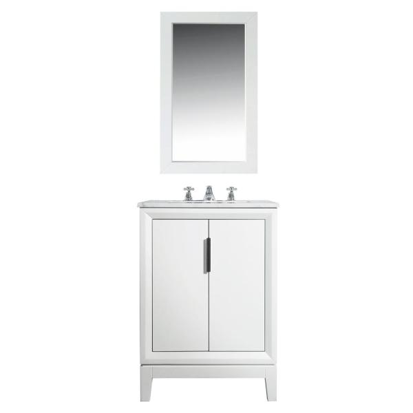 Water Creation Elizabeth Collection 24 In Bath Vanity In Pure White With Vanity Top In Carrara White Marble Vanity Only Vel024cwpw00 The Home Depot