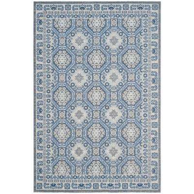 Artisan Silver/Blue 7 ft. x 9 ft. Area Rug