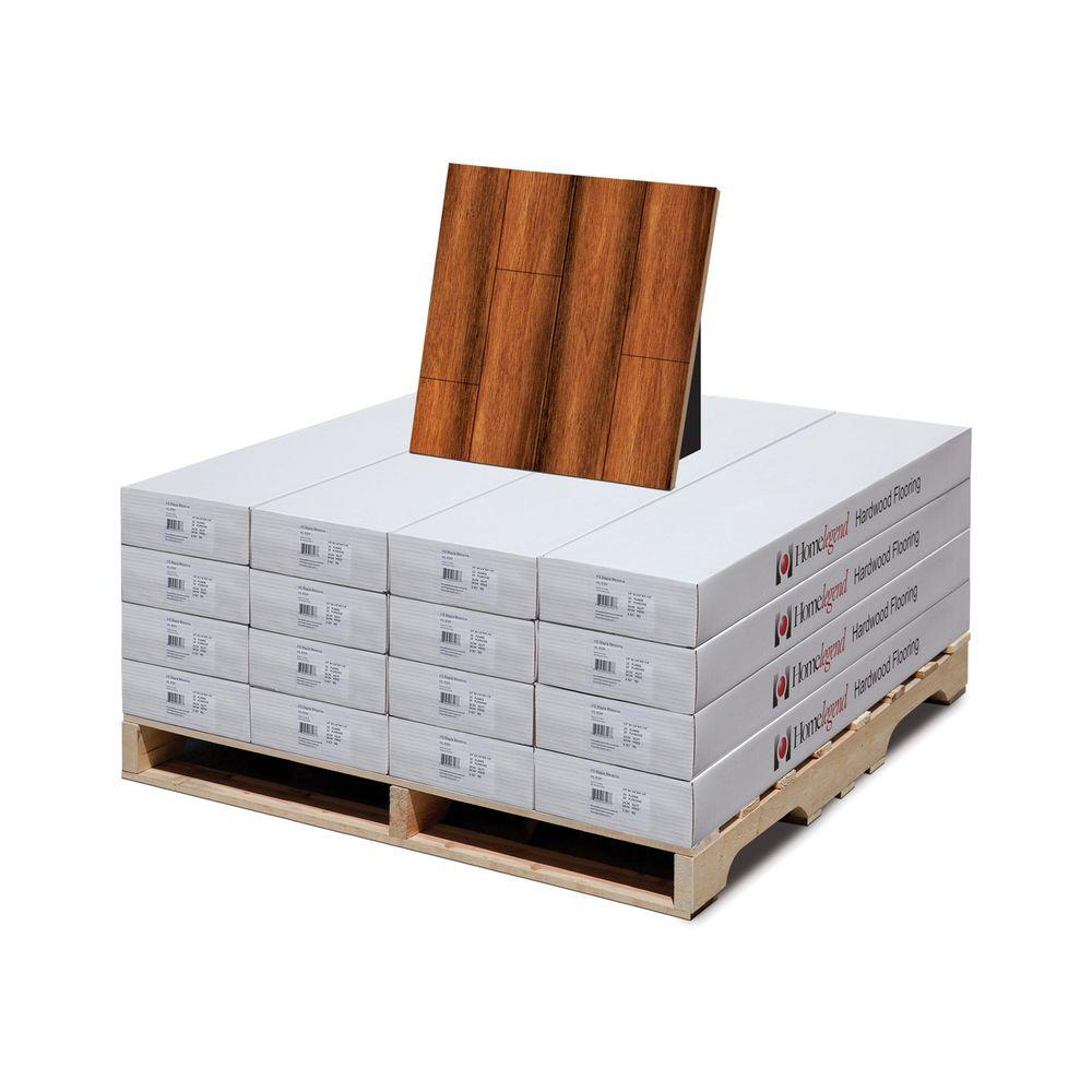 Hand Scraped Manchurian Walnut 3/8 in. Thick x 4-7/8 in. Wide
