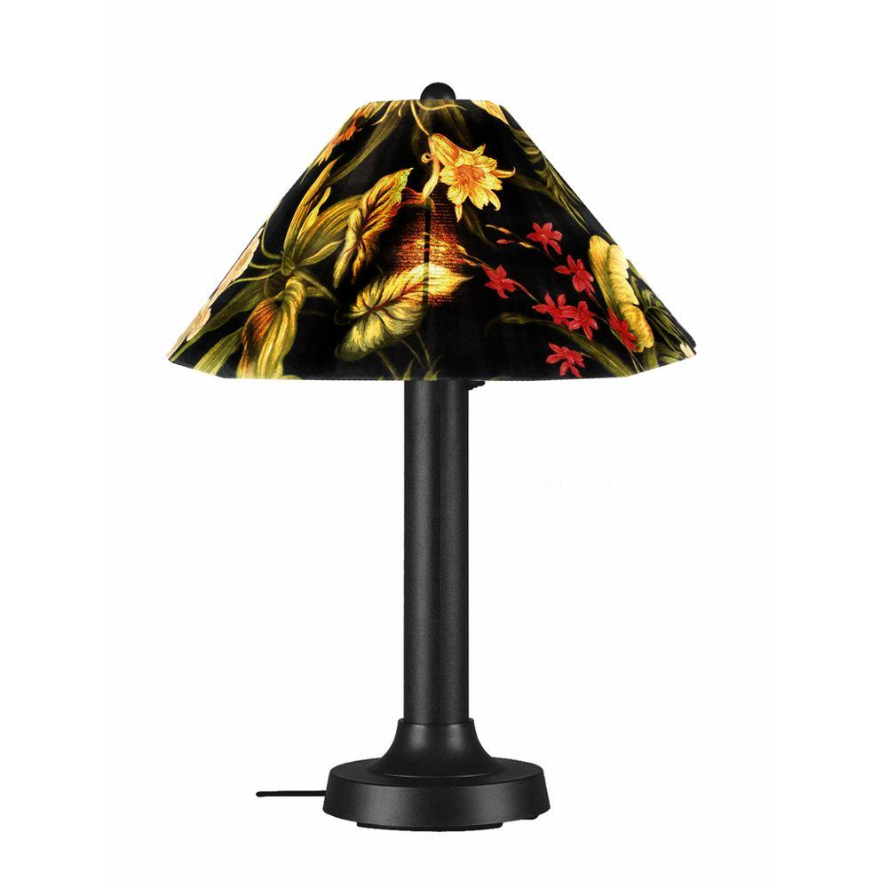 Patio Living Concepts Catalina Black Outdoor Table Lamp with Ebony Shade Large-DISCONTINUED