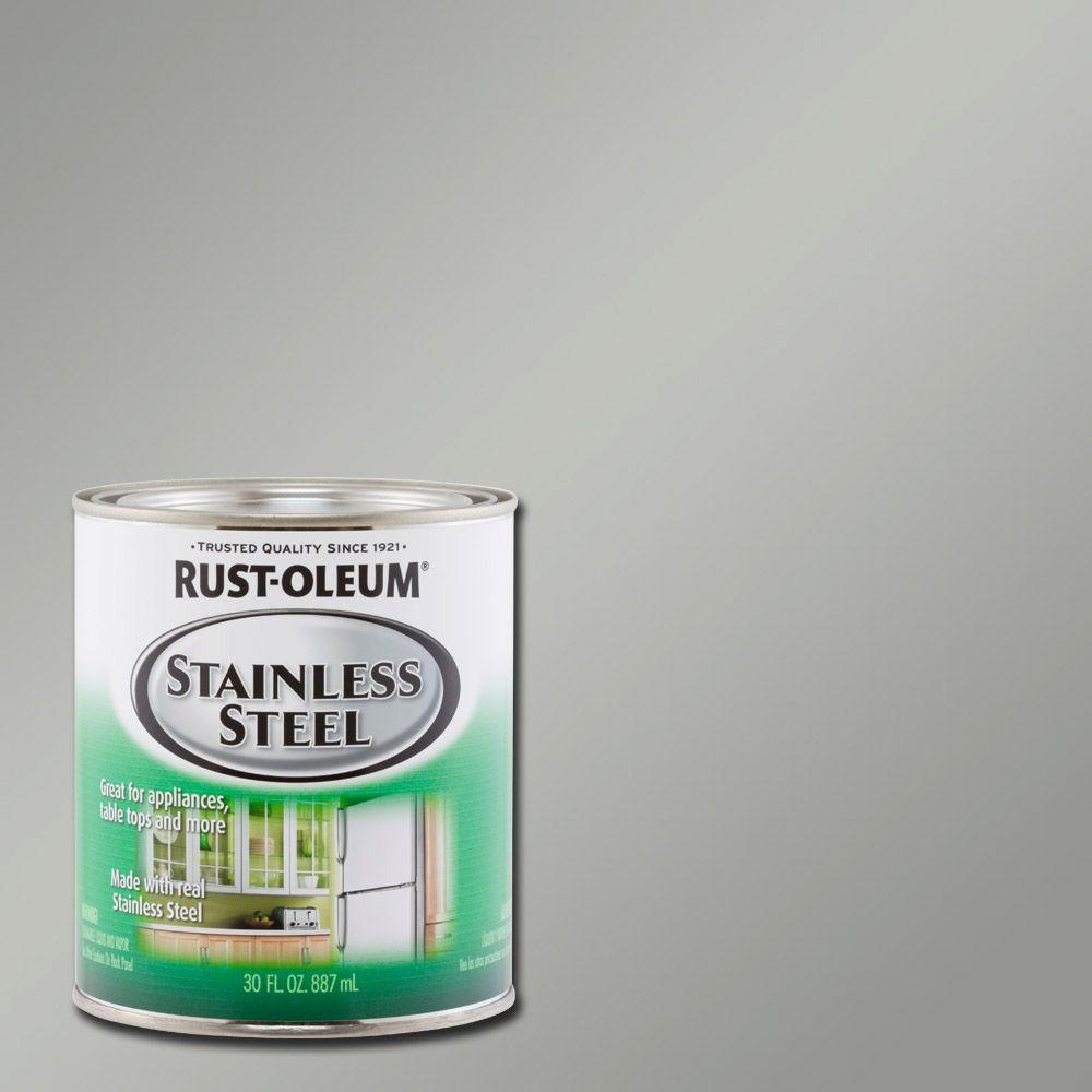 Rust oleum specialty 30 oz metallic stainless steel interior exterior paint 2 pack 247963 for Rustoleum exterior metal paint