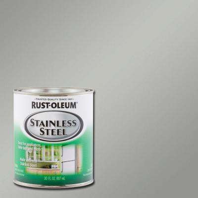 30 oz. Metallic Stainless Steel Interior/Exterior Paint (2-Pack)