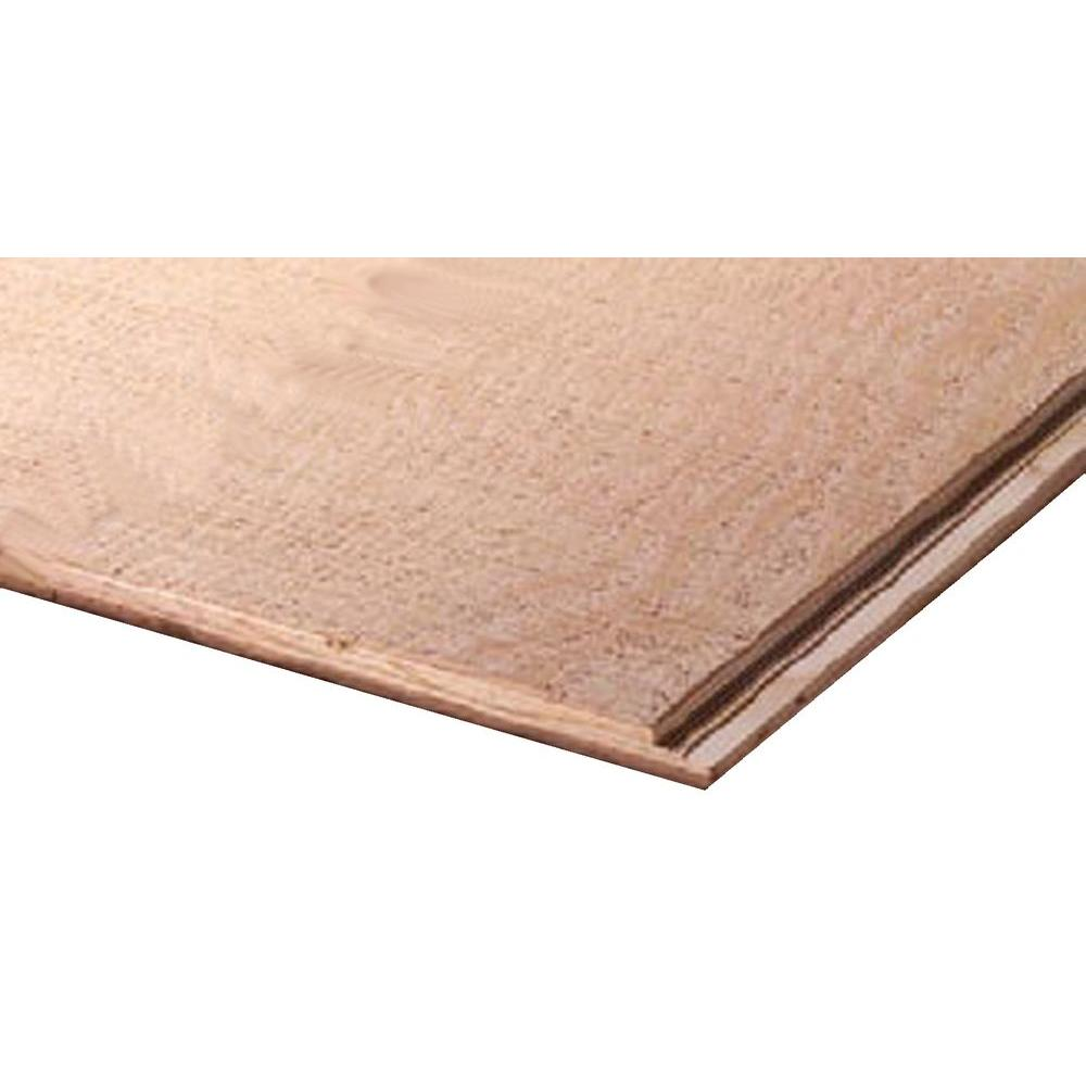 Plywood Siding Panel No Groove Rough Sawn Nominal 11 32 In X 4 Ft X 8 Ft Actual 0 322 In X 48 In X 96 In 1301100 The Home Depot