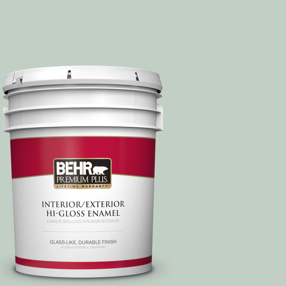 5 gal. #PPU11-13 Frosted Jade Hi-Gloss Enamel Interior/Exterior Paint