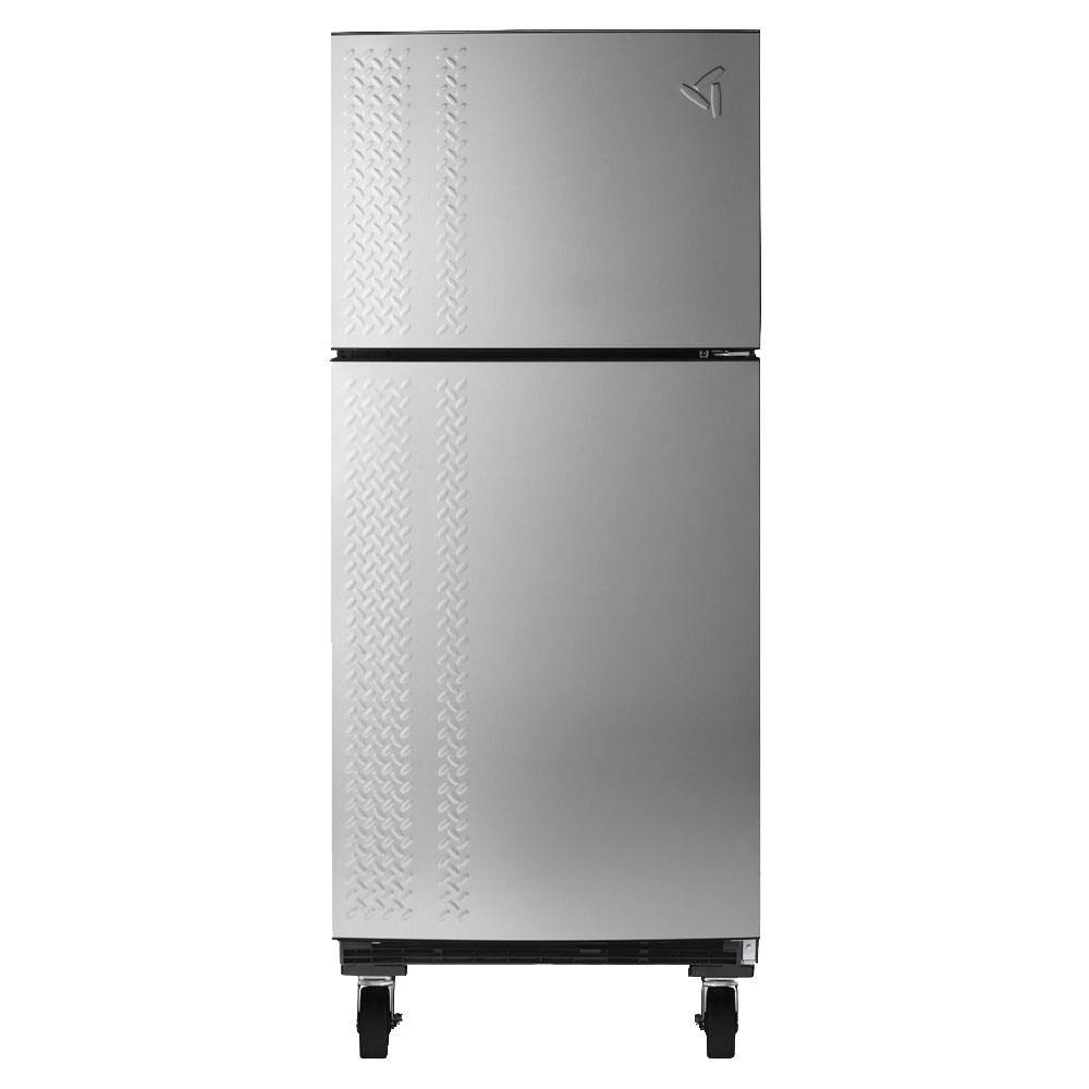 Gladiator 30 in. W 19 cu. ft. Chillerator Top Freezer Garage Refrigerator in Silver Tread
