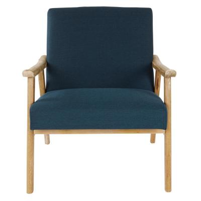 Weldon Klein Azure fabric Chair with Brushed Frame