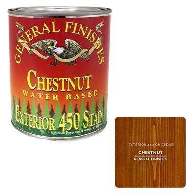 1 gal. Exterior 450 Chestnut Water-Based Wood Stain