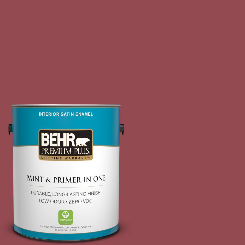 1 gal. #PPU1-11 Crantini Satin Enamel Zero VOC Interior Paint and