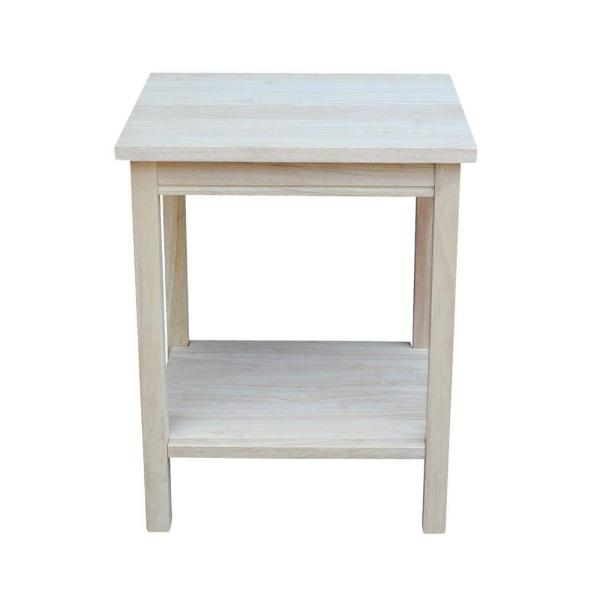 Portman Unfinished End Table