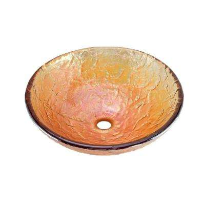 Vessel Sink in Gold Reflections