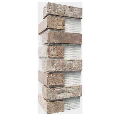 Brickwebb Little Cottonwood Thin Brick Sheets - Corners (Box of 3 Sheets)  21 in x 15 in (5.3 linear ft.)