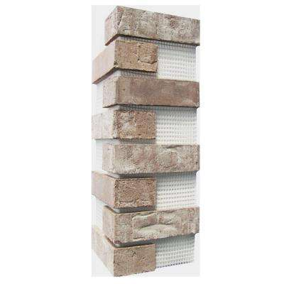 21 in. x 15 in. x 0.5 in. Little Cottonwood Brickweb Thin Brick Corners