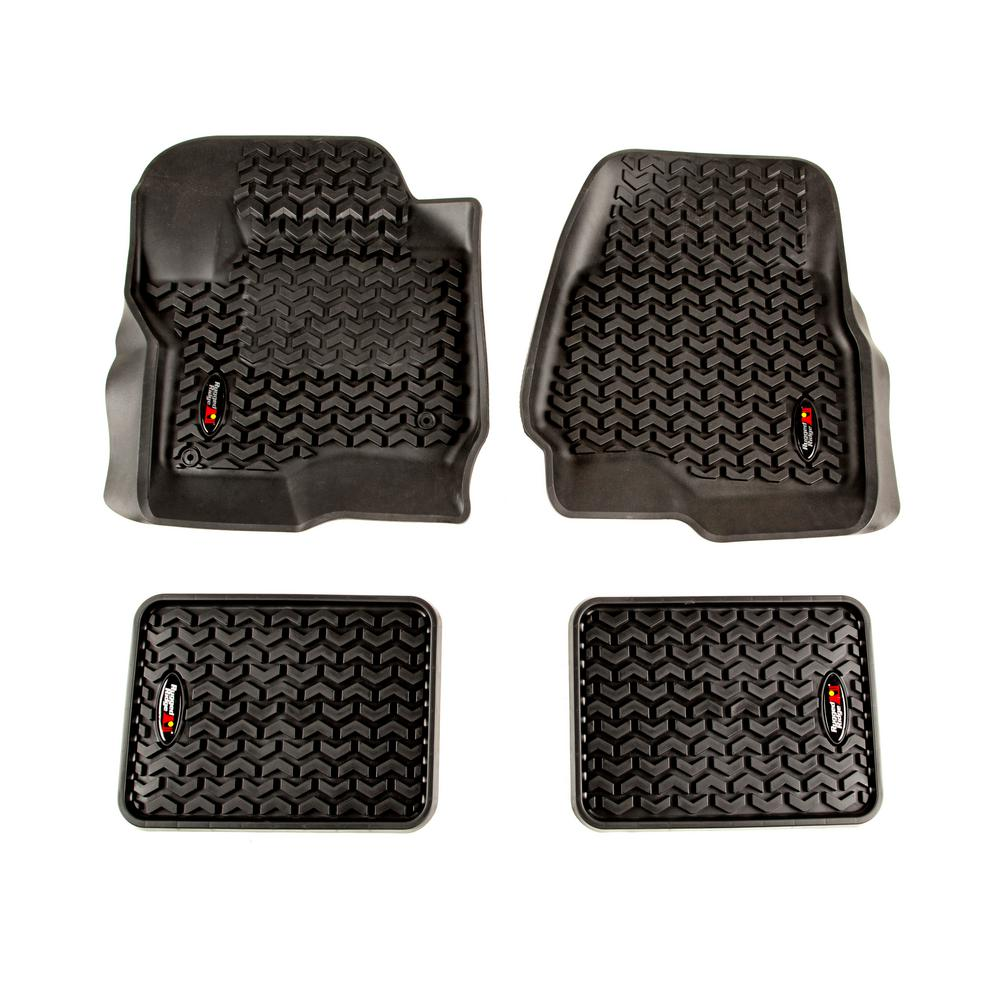 Black Floor Liner Kit 2017-2018 Ford F-250