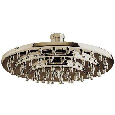 1-Spray 8 in. Rain Showerhead with in Satin Nickel