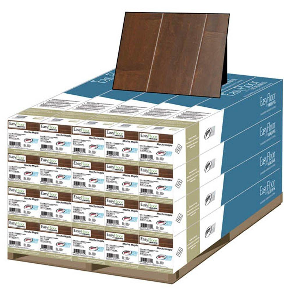 Mohawk Mocha Maple 1/2 in. x 5 in. x Random Length Soft Scraped Engineered Tongue and Groove Hardwood Floor (375 sq.ft./pallet)