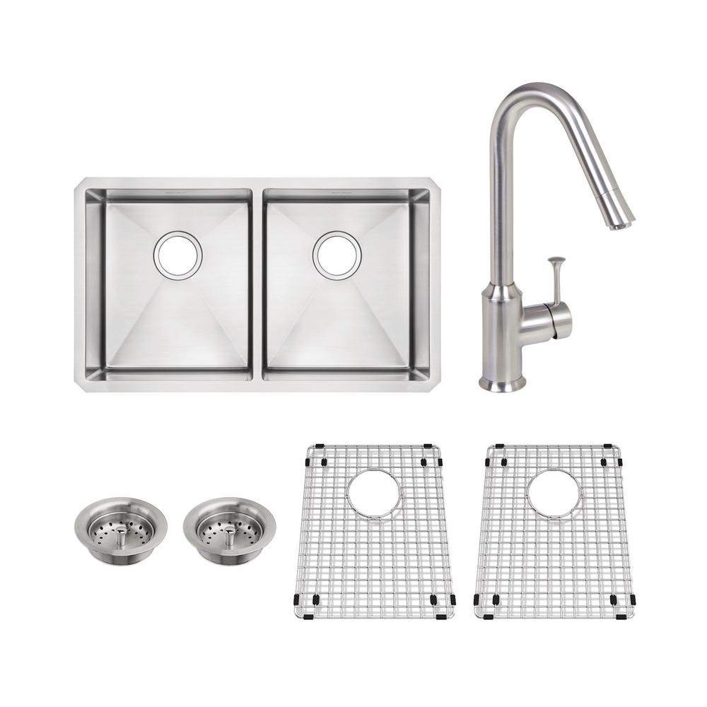 American Standard Pekoe All-in-One Undermount Stainless Steel 29 in ...
