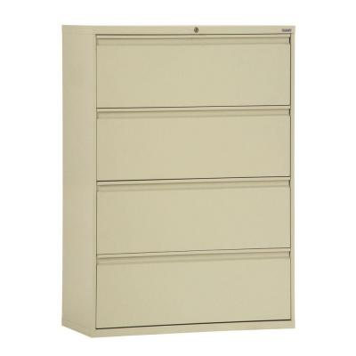 800 Series 53.25 in. H x 42 in. W x 19.25 in. D 4-Drawer Full Pull Lateral File Cabinet in Putty
