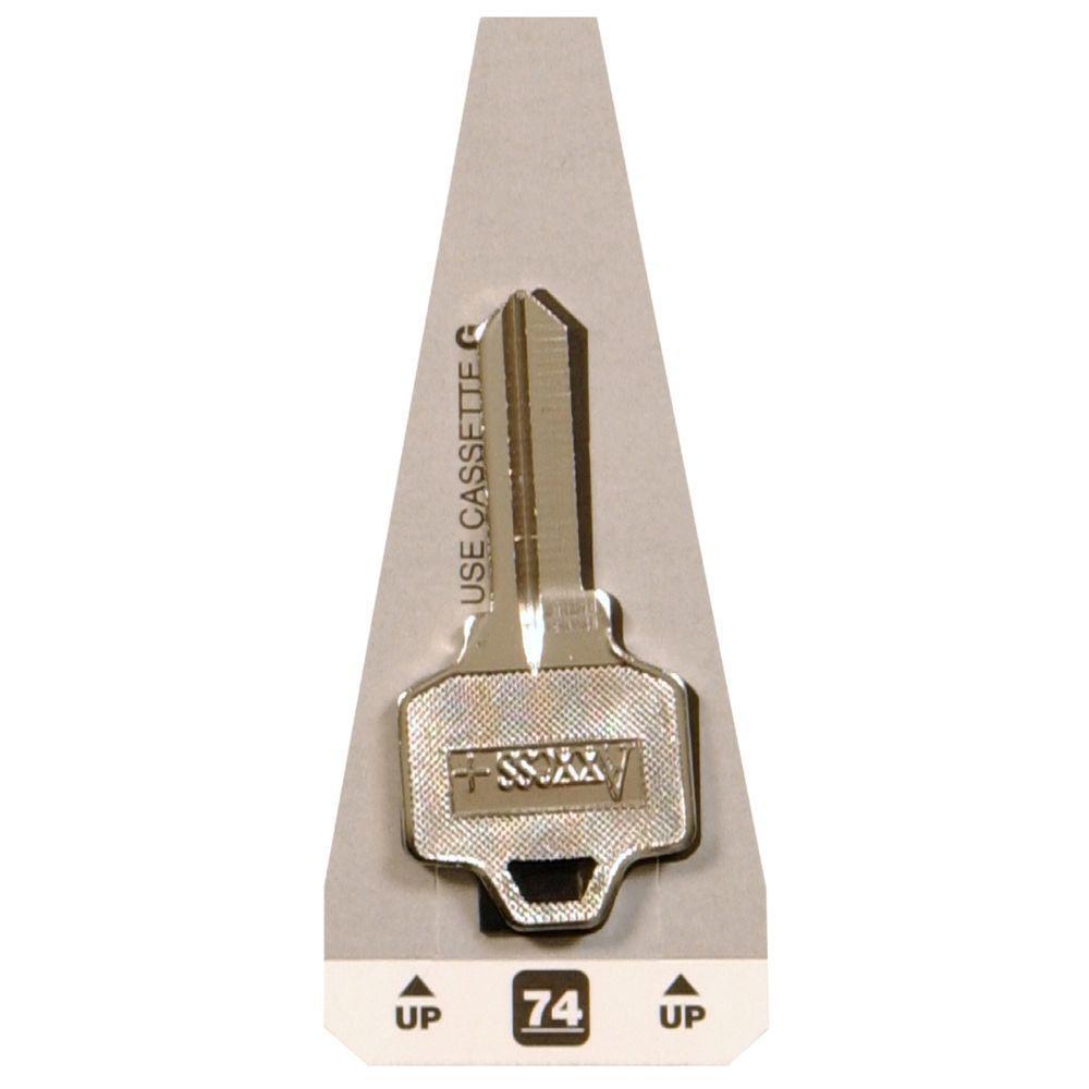 #74 Blank National Cabinet Lock Key