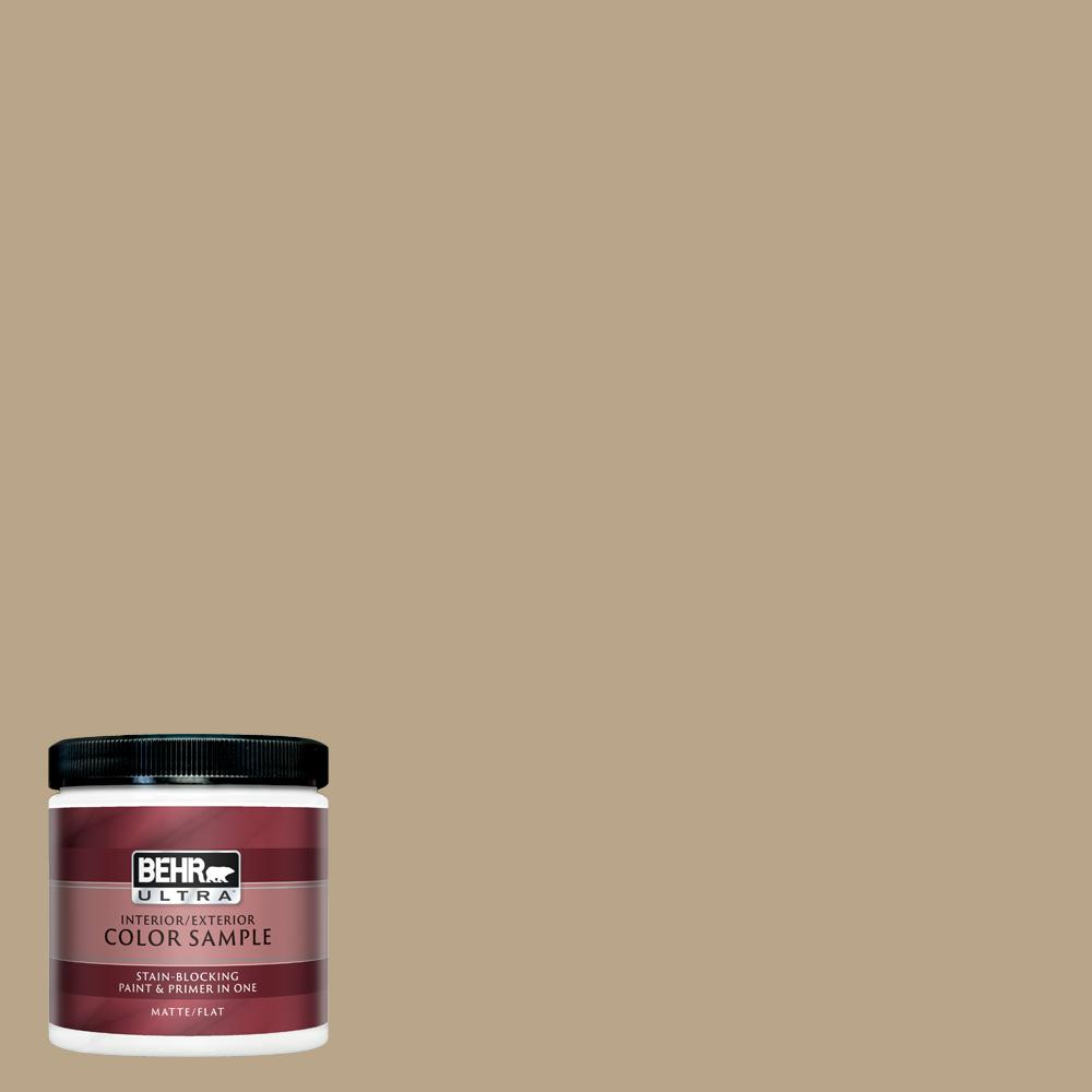 Behr Ultra 8 Oz 710d 4 Harvest Brown Matte Interior Exterior Paint And Primer In One Sample