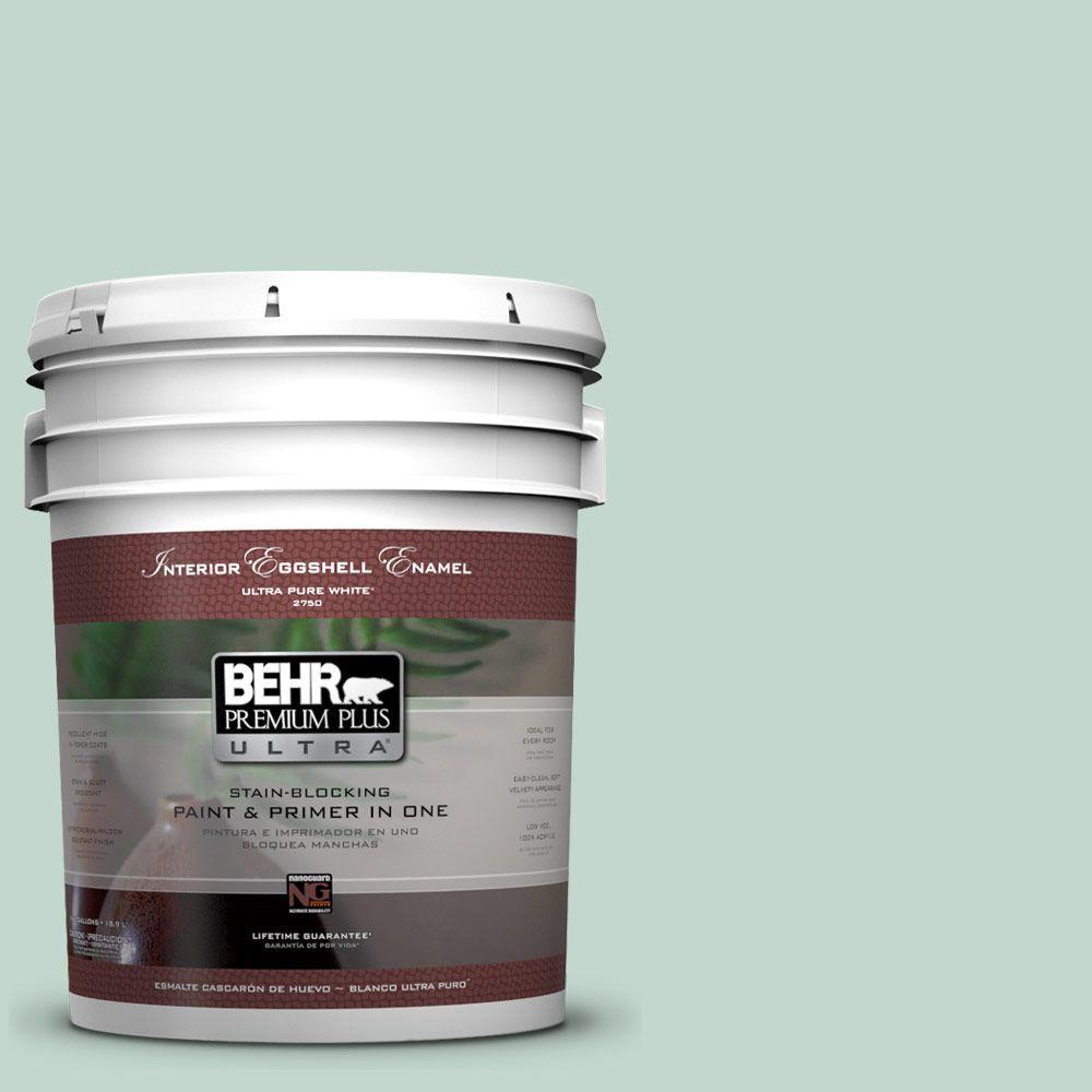 BEHR Premium Plus Ultra 5-gal. #470E-3 Aqua Smoke Eggshell Enamel Interior Paint
