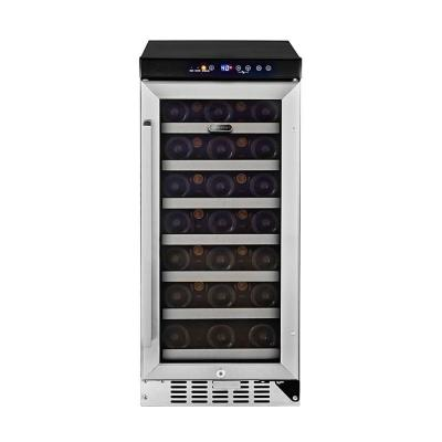 33-Bottle Built-In Wine Refrigerator in Stainless Steel