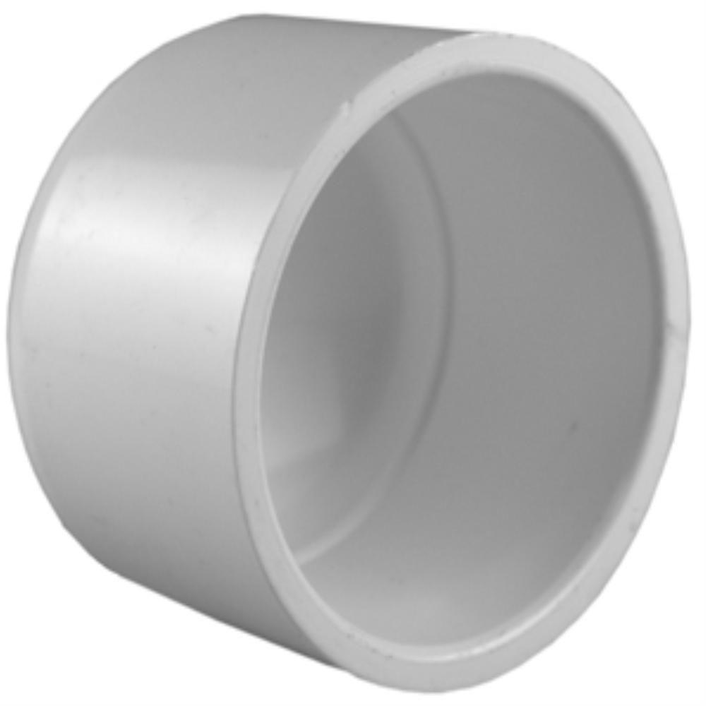 8 in. PVC Schedule 40 Socket Cap