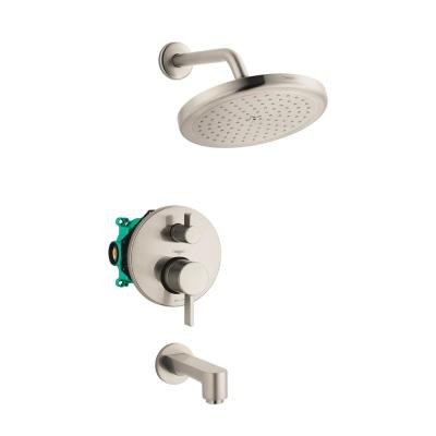 Croma 220 2-Handle 1-Spray Tub and Shower Faucet with Tub Spout in Brushed Nickel (Valve Included)