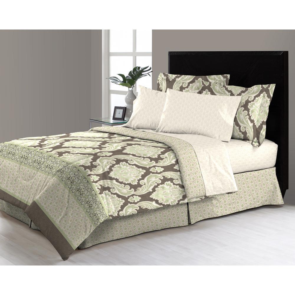 east thornton 8 piece queen bed in a bag comforter set m561603 the home depot. Black Bedroom Furniture Sets. Home Design Ideas